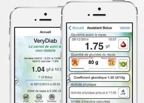 Application Verydiab pour le diabète