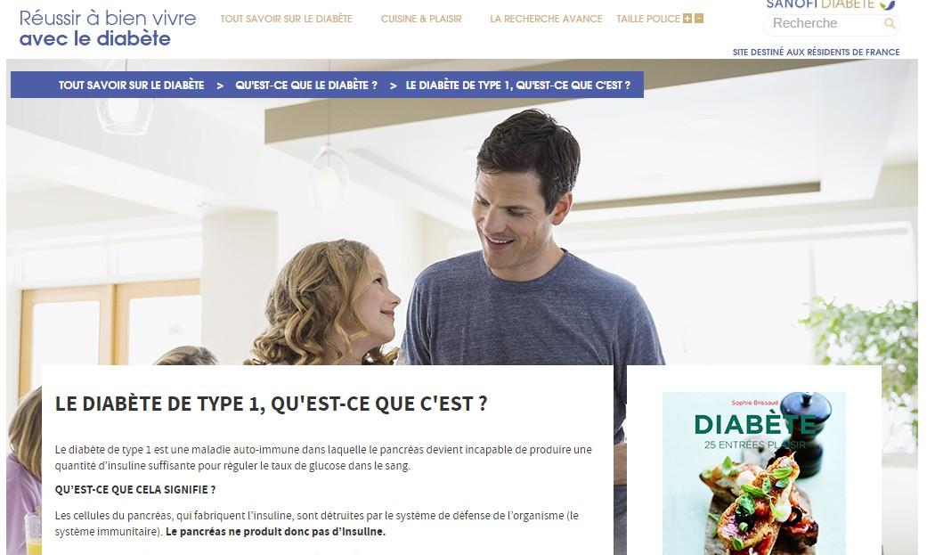 Site diabete sanofi