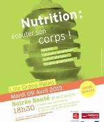 Conférence Nutrition et santé à Lille le 09 avril